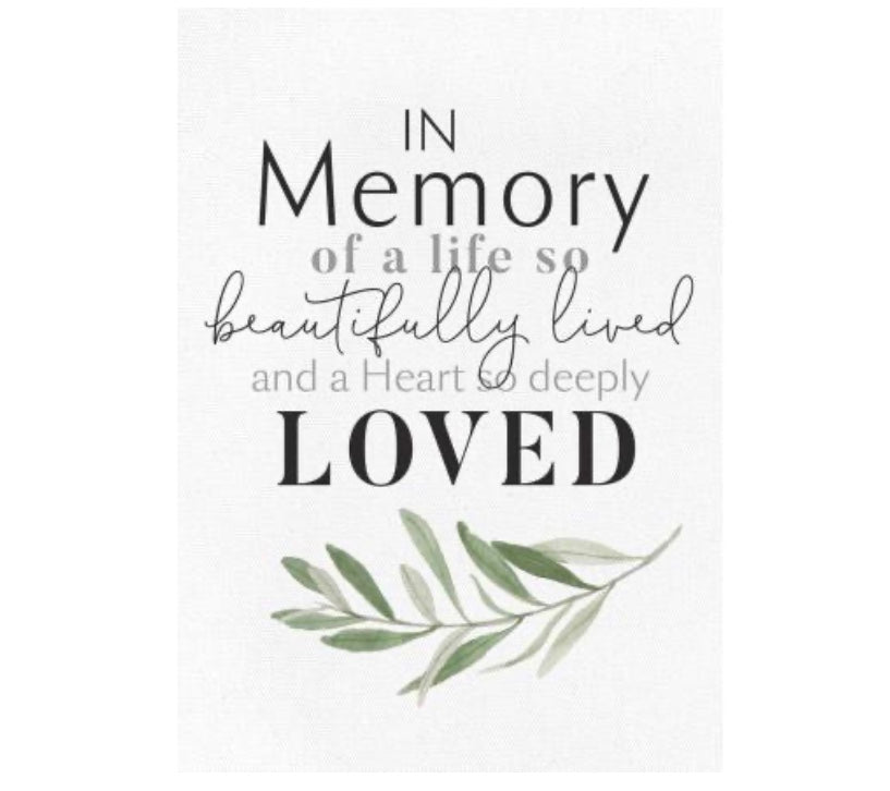 In Memory Canvas Frame