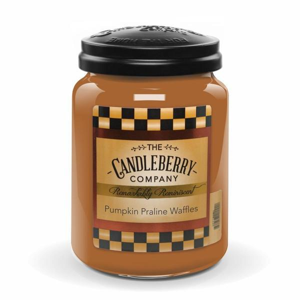 Pumpkin Praline Waffles 26 oz Candleberry Candles