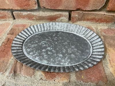 Galvanized Tin Candle Tray