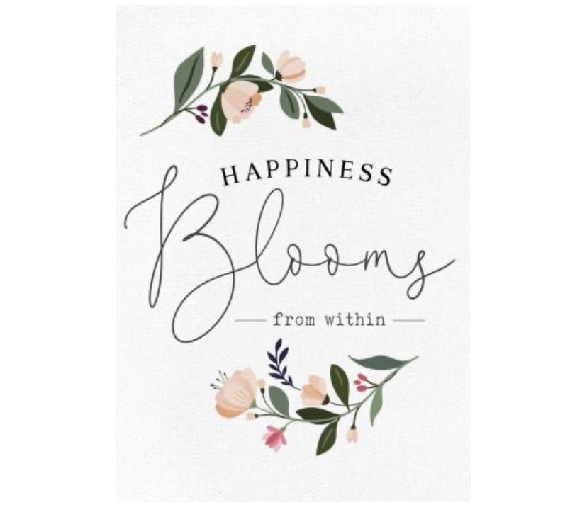 Happiness Blooms Canvas Frame