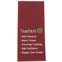 Teachers Definition Embroidered Towel