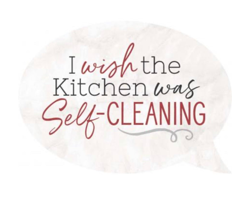 Self Cleaning Kitchen Word Bubble Magnet