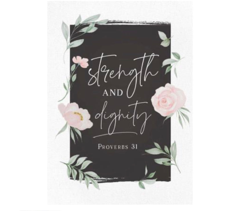 Strength and Dignity Canvas Frame