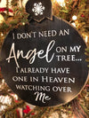 Angel Ornament - Black/White