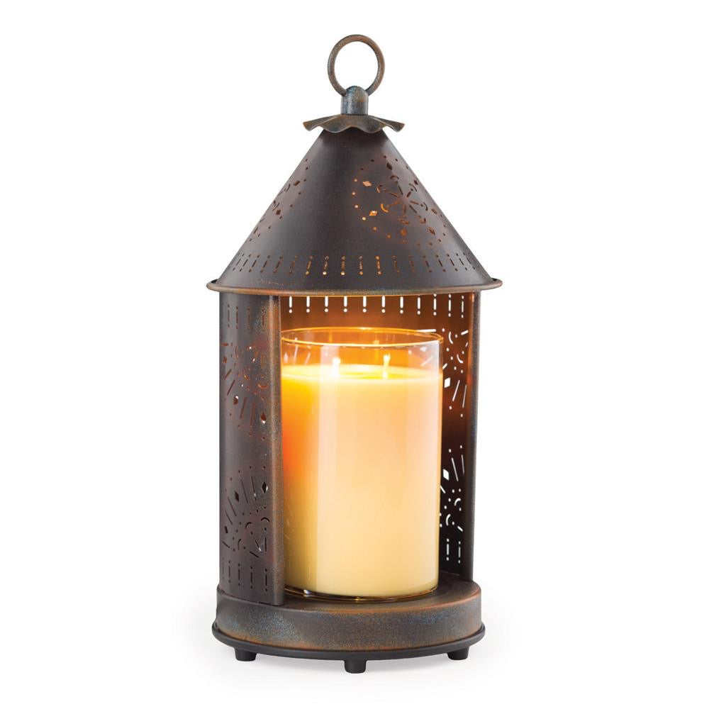 Punched Tin Candle Warmer Lantern