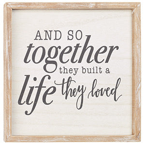 And So Together Framed Sign