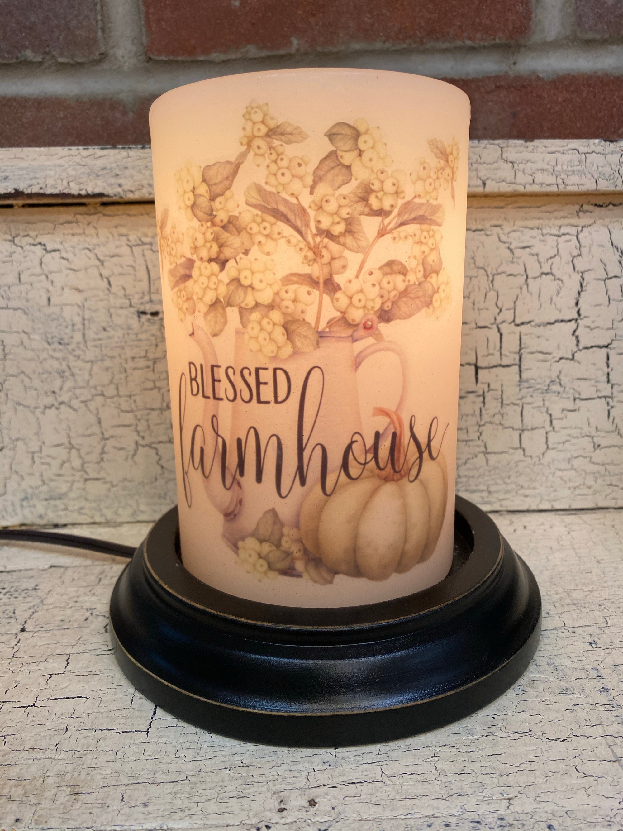 Blessed Farmhouse Fall Candle Sleeve