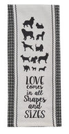 Dogs All Shapes and Sizes Towel