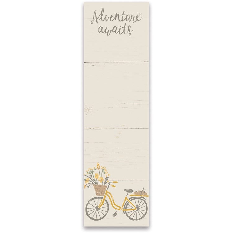 Adventure Awaits Bicycle List Notepad