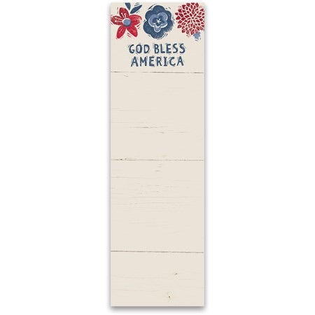 God Bless America List Notepad