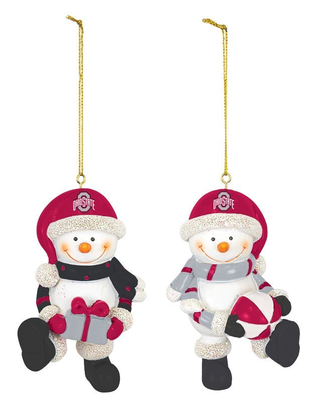 Ohio State Snowman Ornaments - 2 Styles