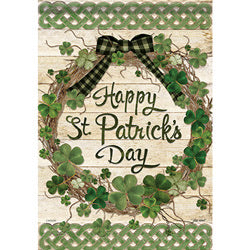 Grapevine Shamrocks Garden Flag