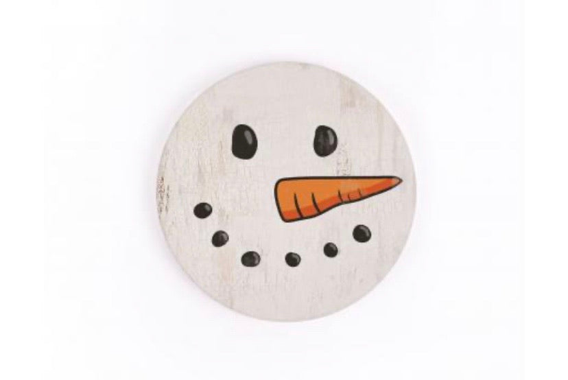 Snowman Face Car Coaster