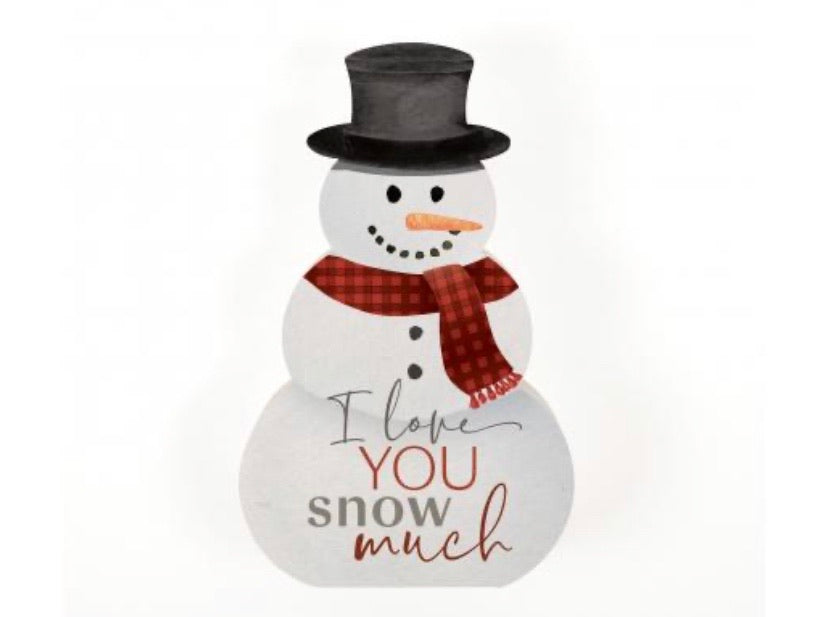 I Love You Shaped Snowman