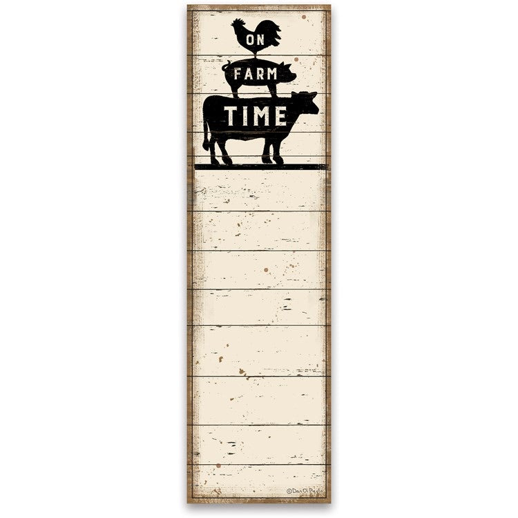 On Farm Time List Notepad
