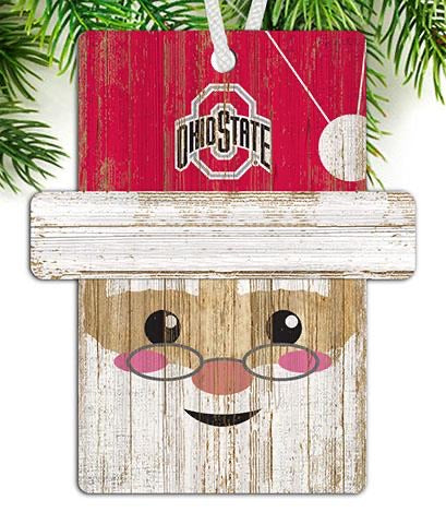 Ohio State Santa Ornament