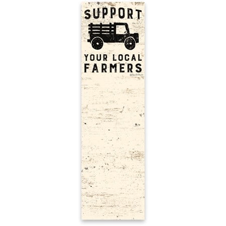 Support Local Farmers List Notepad