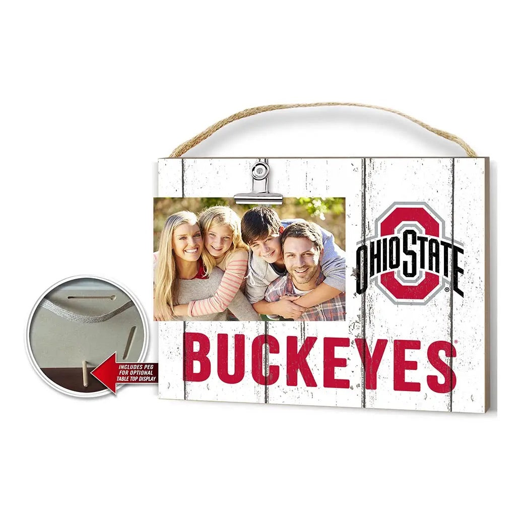 Clip It Ohio State Photo Frame - White