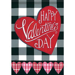 Buffalo Plaid Valentine Garden Flag