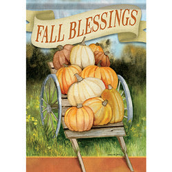Fall Blessings Garden Flag