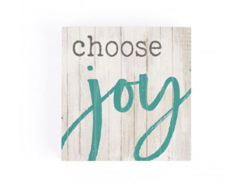 Choose Joy Wood Block