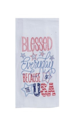 Blessed Everyday USA Towel