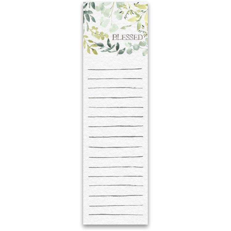 Blessed Watercolor List Notepad