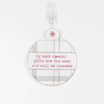 Grandma Ornament - White