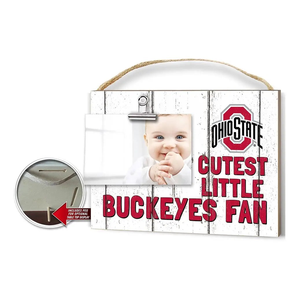 Clip It Cutest Little Buckeye Fan Photo Frame