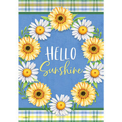Daisy Wreath Garden Flag