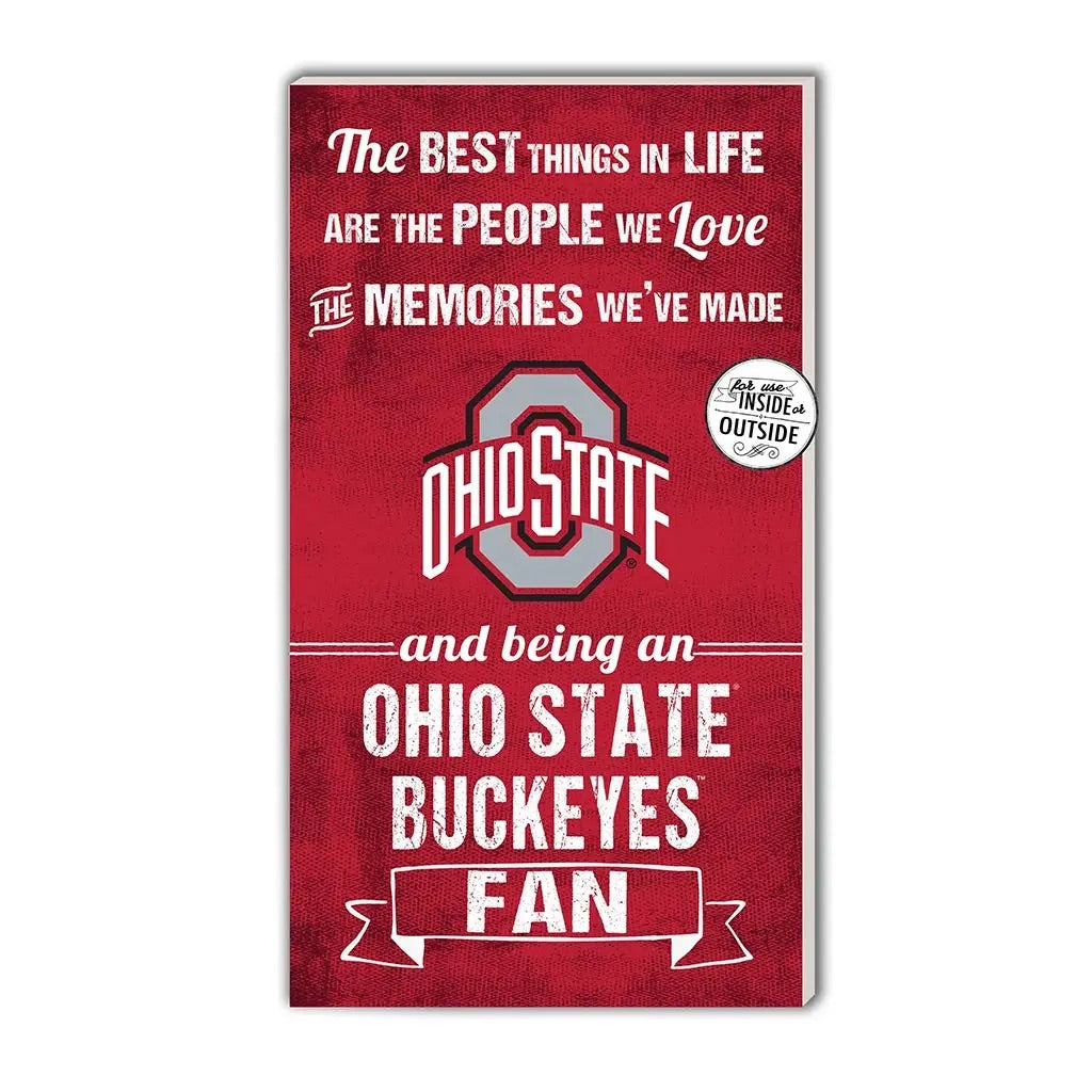 The Best Things/Ohio State Buckeyes Sign