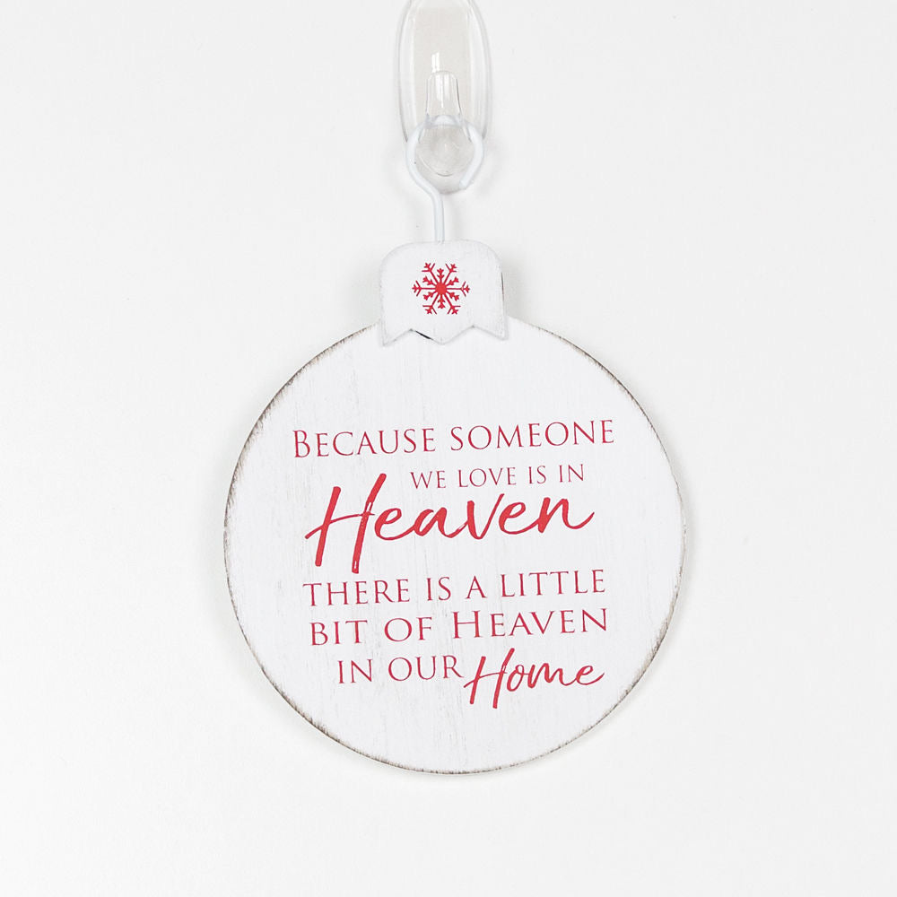 Because Someone Ornament - White/Red