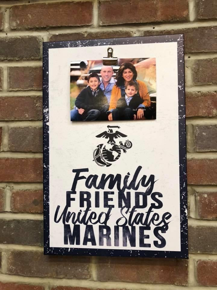 Clip Canvas Marines Photo Frame