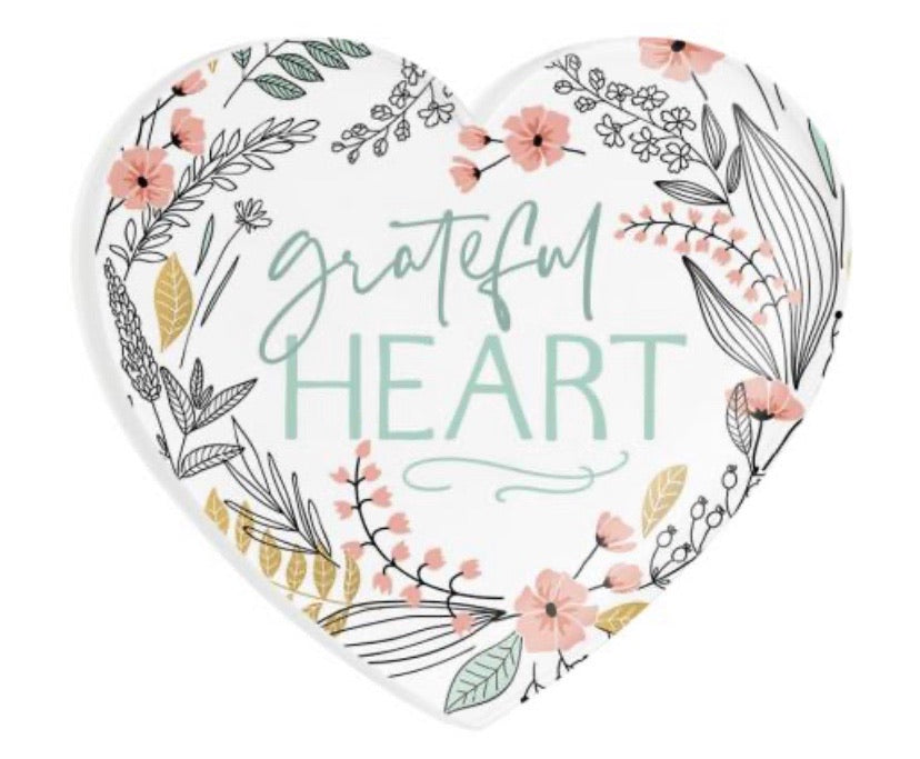 Grateful Heart Heart Magnet