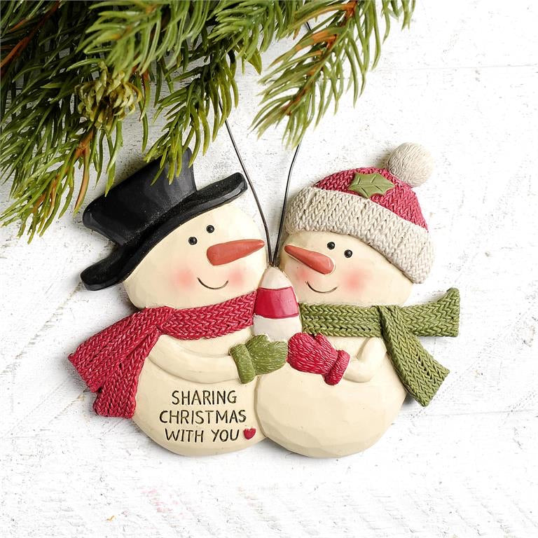 Sharing Christmas With You Snowman Ornament
