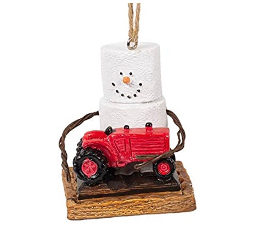S'mores Tractor Ornament