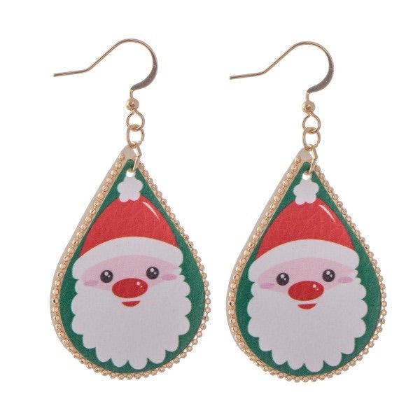 Santa Teardrop Earrings