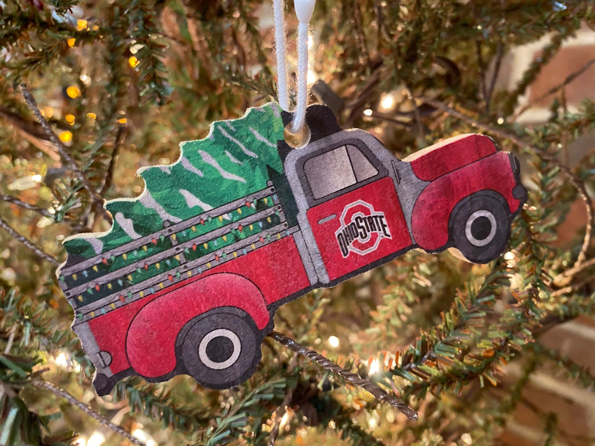 Ohio State Red Truck Ornament