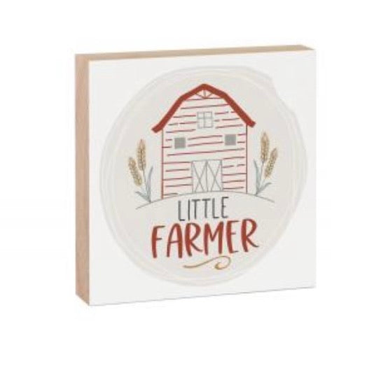 Little Farmer Wood Block