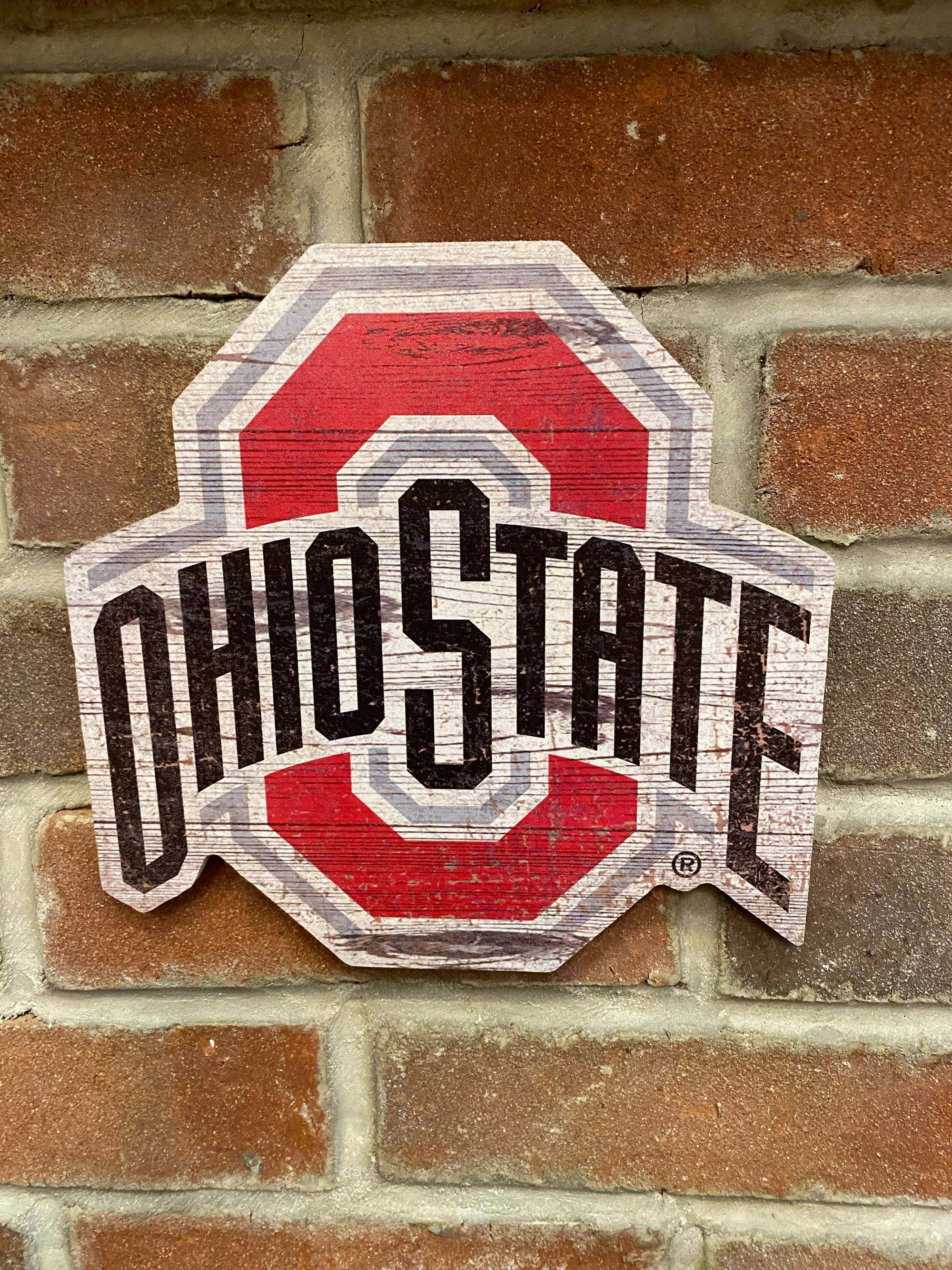 Ohio State Shaped Logo Sign