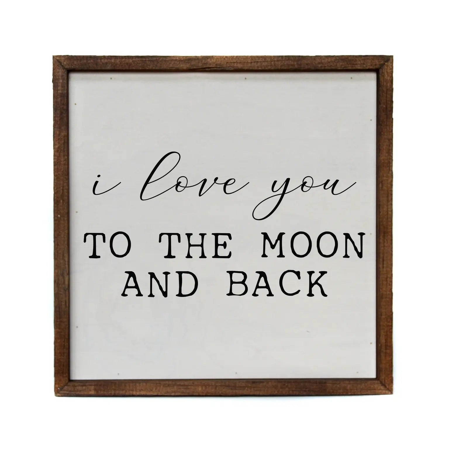 Moon and Back Framed Sign