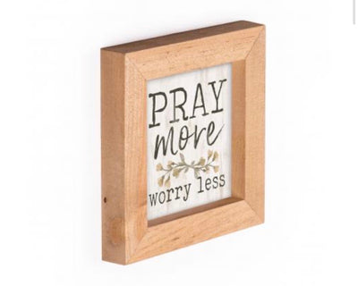 Pray More Framed Art