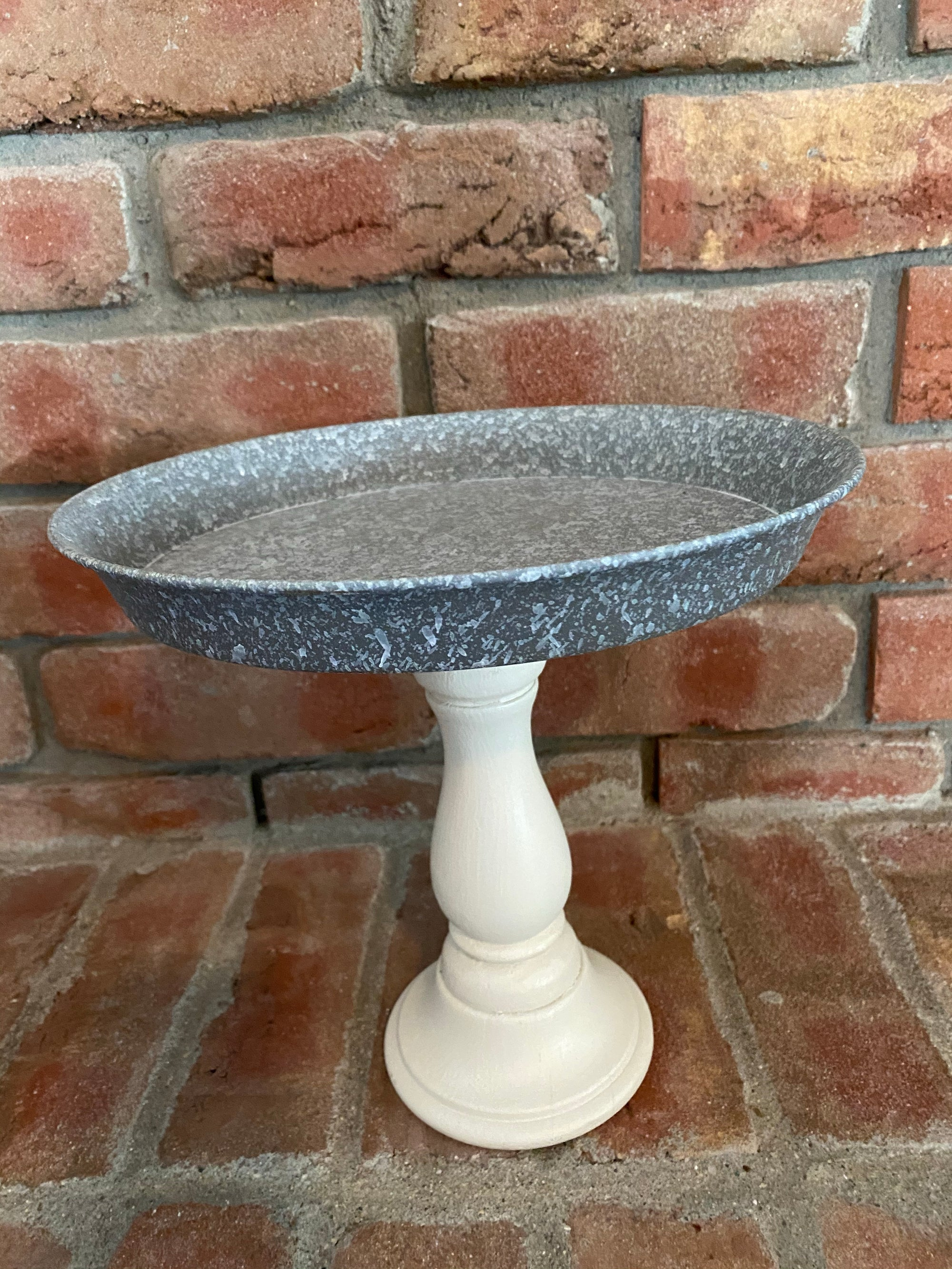 "9"" Metal Candle Tray Pedestal"