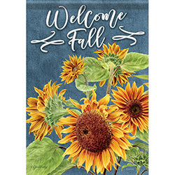 Chalkboard Sunflowers Garden Flag