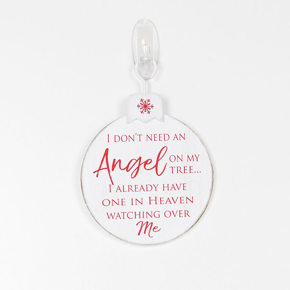 Angel Ornament - White/Red