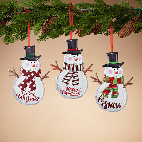 Holiday Snowman Ornament - 3 Styles