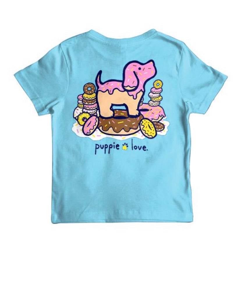 Puppie Love Youth Donut Pup Tee