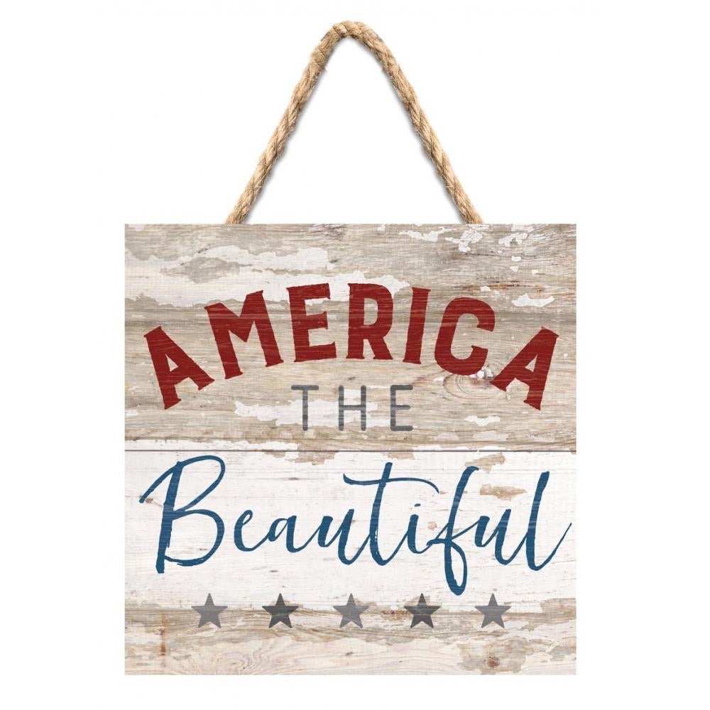 America the Beautiful Hanging Sign