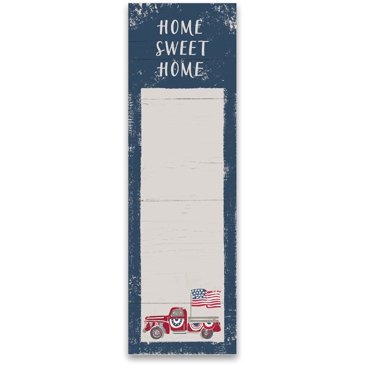 Home Sweet Home America Truck List Notepad
