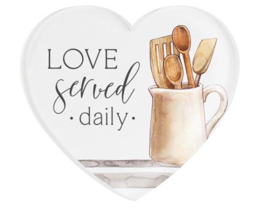 Love Served Daily Heart Magnet